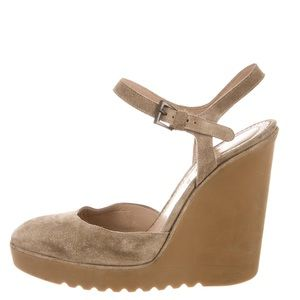 Chloe Suede Wedges Size 38